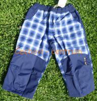 O.K.SPORT dětské 3/4 kalhoty Alpin mini modrá kostka